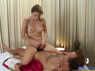 Sexual perfection during massage grants put emphasize blonde babe a fantastic fuck