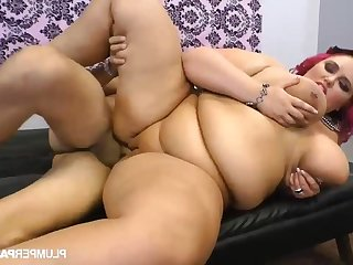 Sara Meets the Meat - bbw rides BBC