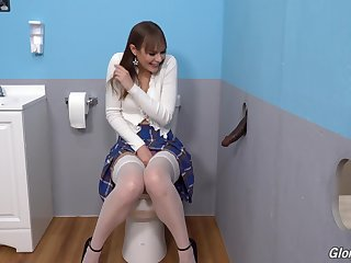 Gloryhole perfection shows the young bush-league whore going wild on high the BBC