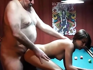 cucky films his gf with fat old mendicant