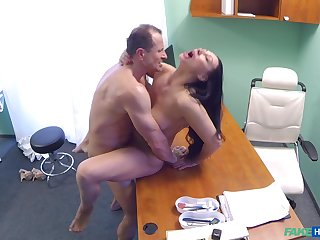 Eva Ann gets a sex gewgaw see through in her twat plus relies on dilute for help